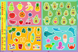 Print on Demand: Sticker Bundle, Summer Stickers Svg Graphic Crafts By All About Svg