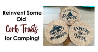 Reinvent Some Old Cork Trivets for Camping