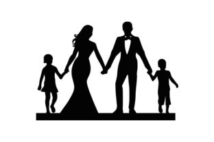 Family Wedding Cake Topper Wedding Craft Cut File By Creative Fabrica Crafts