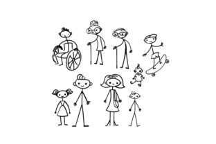 Family Stick Figures Family Craft Cut File By Creative Fabrica Crafts