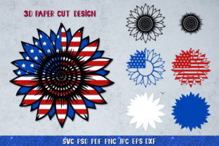 3D Sunflower 4of July Bundle Graphic 3D SVG By goodfox86 8