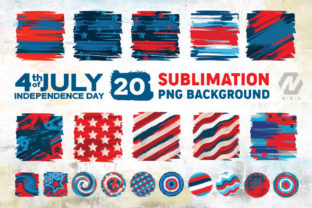 Print on Demand: 4th of July Background Sublimation Graphic Illustrations By nesdigiart