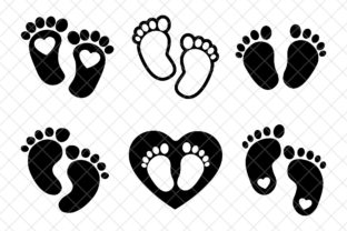Baby Feet Graphic Objects By digitaldesignstudioo