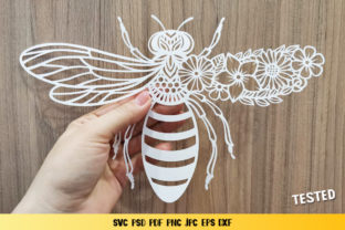 Bee Monogram Graphic 3D SVG By goodfox86 9