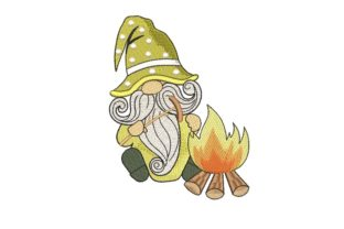 Print on Demand: Camping Gnome Fairy Tales Embroidery Design By ArtEMByNatali