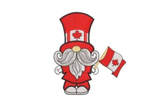 Print on Demand: Canadian Gnome Independence Day Embroidery Design By ArtEMByNatali