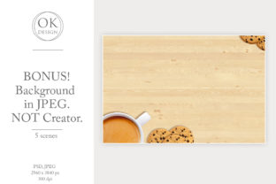 Coaster Mockup Bundle. Square and Round Graphic Product Mockups By OK-Design 5