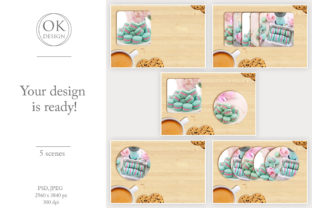 Coaster Mockup Bundle. Square and Round Graphic Product Mockups By OK-Design 6