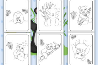 Print on Demand: Cute Panda Coloring Pages for Kids Graphic Coloring Pages & Books Kids By Tixxor-Global