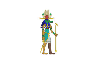 Egyptian Crocodile God Africa Embroidery Design By DigitEMB