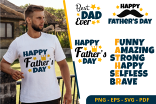 Print on Demand: Father's Day Clipart Sublimation Designs Graphic Print Templates By JunioR Design