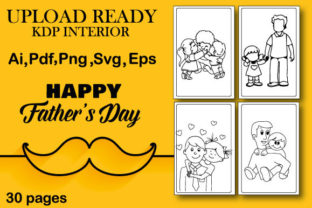 Father's Day Coloring Page Graphic Coloring Pages & Books Kids By Sumiya's creation