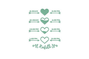 Green Timeline Refill Remembrance Embroidery Design By DigitEMB