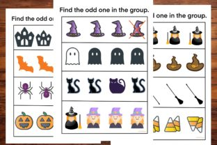 Halloween, Find the Odd One in the Group Graphic PreK By AfifShop