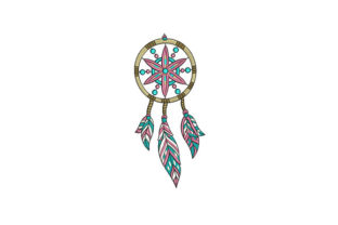 Indian Dream Catcher Asia Embroidery Design By DigitEMB