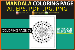 MANDALA COLORING PAGES for KIDS V.76 Graphic Coloring Pages & Books Kids By triggeredit