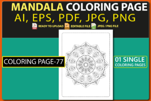 MANDALA COLORING PAGES for KIDS V.77 Graphic Coloring Pages & Books Kids By triggeredit