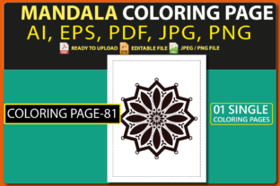 MANDALA COLORING PAGES for KIDS V.81 Graphic Coloring Pages & Books Kids By triggeredit