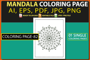MANDALA COLORING PAGES for KIDS V.82 Graphic Coloring Pages & Books Kids By triggeredit
