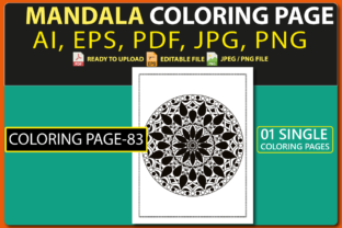 MANDALA COLORING PAGES for KIDS V.83 Graphic Coloring Pages & Books Kids By triggeredit