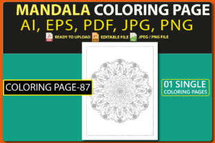 MANDALA COLORING PAGES for KIDS V.87 Graphic Coloring Pages & Books Kids By triggeredit