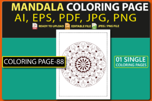 MANDALA COLORING PAGES for KIDS V.88 Graphic Coloring Pages & Books Kids By triggeredit
