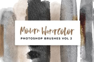 Modern Watercolor Photoshop Brushes Graphic Brushes By TheGypsyGoddess