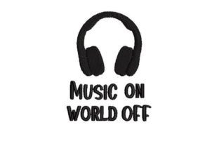 Music on World off Music Embroidery Design By Embroidery Designs