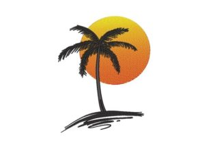 Palm Tree Forest & Trees Embroidery Design By NinoEmbroidery