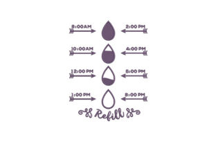 Purple Timeline Refill Remembrance Embroidery Design By DigitEMB