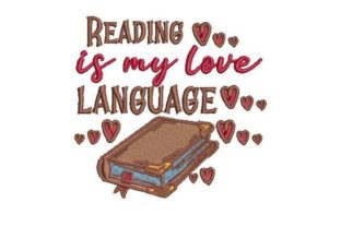 Reading is My Love Language Games & Leisure Embroidery Design By Embroidery Designs