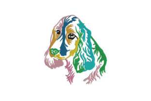Spaniel Applique Dogs Embroidery Design By DigitEMB