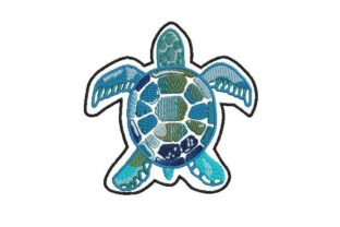 Watercolor Turtle Reptiles Embroidery Design By Embroidery Designs