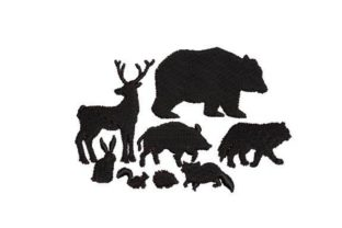 Woodland Animal Silhouettes Woodland Animals Embroidery Design By Embroidery Designs