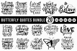 Butterfly Quotes SVG Bundle | 20 Designs Graphic Crafts By CraftlabSVG
