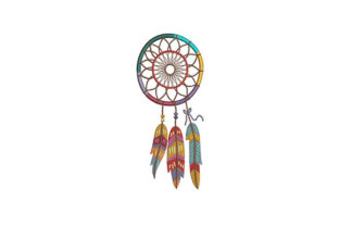 Colorful Dream Catcher Asia Embroidery Design By DigitEMB