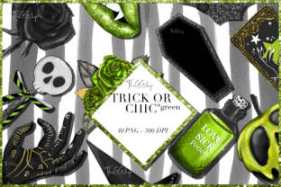 Print on Demand: Cute Spooky Halloween Clipart Set Graphic Illustrations By TheGGShop