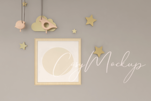 Cute Nursery Wall Frame Mockup. Graphic Product Mockups By CosyArtStore by RivusDea