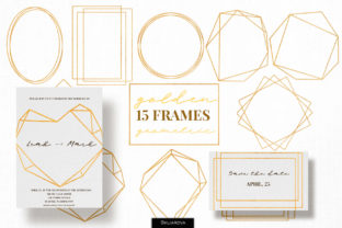 Golden Frames Graphic Illustrations By HappyWatercolorShop
