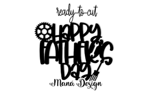 Print on Demand: Happy Father's Day Cake Topper Graphic 3D SVG By Maná Design 2