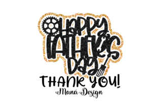 Print on Demand: Happy Father's Day Cake Topper Graphic 3D SVG By Maná Design 3