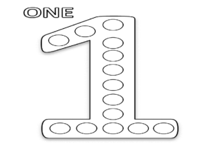Numbers Dot Markers Activity Book Graphic Coloring Pages & Books Kids By Stock Designs