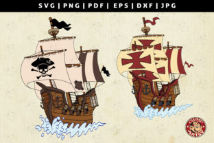 Print on Demand: Pirate Ship Vector Clipart Illustrations Graphic Crafts By ChimpArtsy