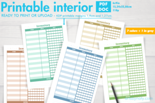 Print on Demand: Set of Inventory KDP Notebooks in Colors Graphic KDP Interiors By artsbynaty