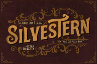 Print on Demand: Silvestern Display Font By letterhend 1