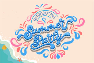 Print on Demand: Summer Party Script & Handwritten Font By Nobu Collections