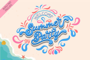 Print on Demand: Summer Party Script & Handwritten Font By Nobu Collections 5