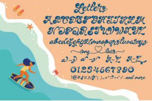 Print on Demand: Summer Party Script & Handwritten Font By Nobu Collections 2