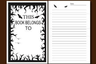 100+ Page HORROR KDP Low Vision Notebook Graphic KDP Interiors By Ador Hasan 1