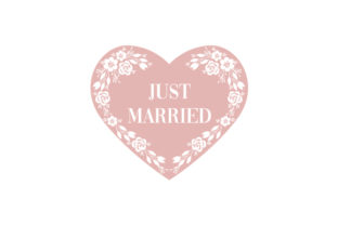Just Married Heart Wedding Craft Cut File By Creative Fabrica Crafts